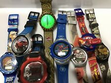 Vintage Character Watches Lot Of 8. Star Wars Hot Wheels Spiderman Jurassic More