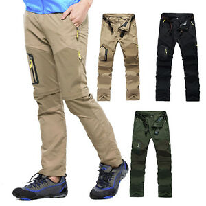 Men Quick-drying Pants Outdoor Camping Hiking Breathable Trousers Detachable New