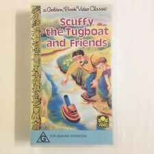 Scruffy The Tugboat And Friends. VHS Video Tape Golden Book Theodore Mouse Goes