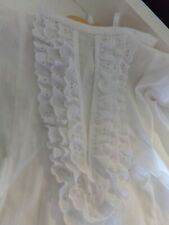 Victorian Attire Civil War Baby White Cotton Newborn Dress Costume NEW