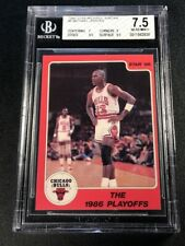 MICHAEL JORDAN 1986 STAR COMPANY #8 PLAYOFFS NEAR MINT+ BGS 7.5 BULLS NBA MJ