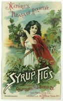 Syrup Of Figs California Syrup Fig Co Laxative San Francisco CA Victorian Card