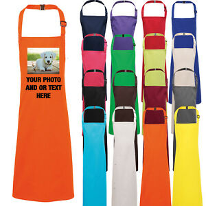 Childrens Apron Printed Personalised Childs Kids Kitchen Cooking Baking Bake