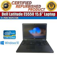 """C Grade Dell Latitude E5550 15.6"""" Intel i7 8GB RAM 250GB HDD WiFi Win 10 Laptop"""