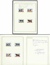 Zambia 1987 World Food Day Cattle MASTER PROOFS/FOLDER