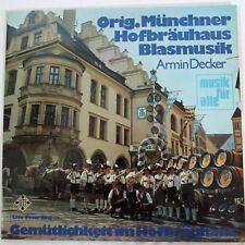 """Signed Original Münchner Hofbräuhaus Blasmusik Armin Decker 12"""" LP Vinyl Record"""