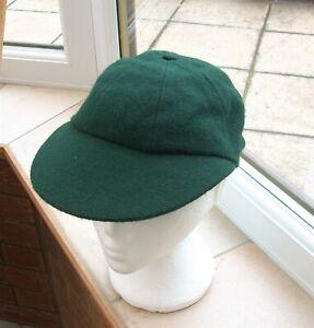 Vintage Green Cricket Cap Size 7 - Bukta All Wool