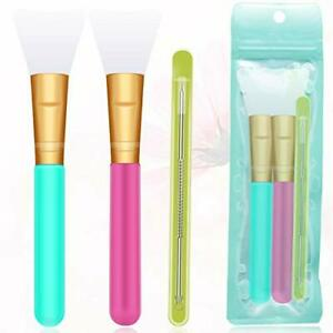 3 PCS Silicone Makeup brush Face Mask Brush Soft Silicone BeautyTool Facial NEW.