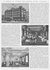 LIVERPOOL The Adelphi Hotel - 2x Antique Prints 1892