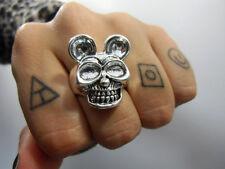 anillo original Mickey Mouse cráneo CRÁNEO calavera rock gótico anillo T55 US7