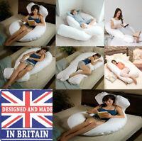 12 FT U SHAPE FULL BODY & BACK SUPPORT MATERNITY PREGNANCY COMFORT PILLOW COVER