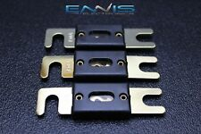 3 PACK 150 AMP ANL FUSE FUSES GOLD PLATED INLINE WAFER HIGH QUALITY HOLDER