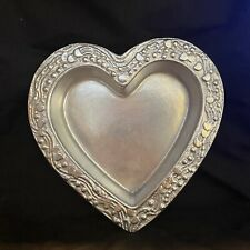 New listing Don Drum Medium Heart Shaped Bowl Aluminum