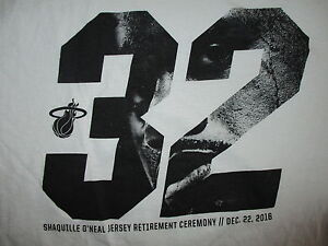 SHAQUILLE O'NEAL 32 JERSEY RETIREMENT CEREMONY T SHIRT Miami Heat Basketball XL