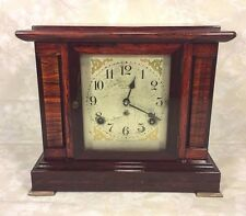 Vintage Seth Thomas Sonora Chime Clock 4 Bells Adamantine Case Running