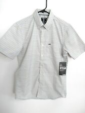 Hurley Nike Dri-Fit DF Sound Mens Small Gray-White Blue Gold Button Up Shirt