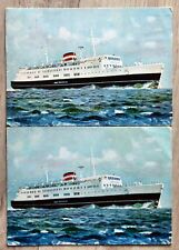 2 AK MS Kong Frederik IX Gedser Großenbrode gelaufen 1960