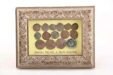 Antique Ancient Bronze Roman Coins Framed Spain Certificate M414