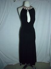 Guerriero Little Black Sexy Dress Made in Italy Low Cut Front and Back Size 42