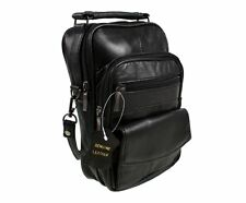 Lorenz Black Real Leather Shoulder Bag - ML1458