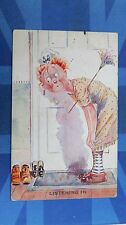 Risque Vintage Comic Postcard 1931 Wireless Radio Set Receiver Chambermaid