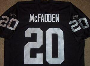VTG AUTHENTIC 2008 DARREN McFADDEN OAKLAND RAIDERS NFL REEBOK JERSEY 50 SEWN!