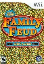 Family Feud: Decades (Nintendo Wii, 2010) Complete FAST SHIPPING