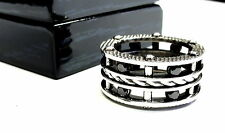 Men's  Eternity Black Diamond Rope Ring By Sacred Angels