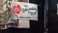 Hilo Hattie Mens Size Large 100% Rayon Black Brown Aloha Tropical Hawaiian Shirt