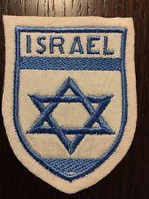 Patch toppa CM8X6 scudetto in stoffa ricamato ISRAEL ISRAELE