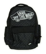 New Vans Off The Wall Underhill 2 Black Plaid Backpack Laptop Sleeve Skate Bag