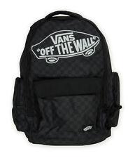 New Vans Off The Wall Underhill 2 Black Plaid Backpack Laptop Sleeve Skate Bag
