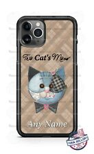 The Cat's Meow Brown Patchwork Phone Case For iPhone Samsung S20 LG Google