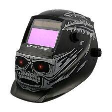 Welding Helmet Demon Skull Lotos Solar Auto Darkening Plasma Cut, Tig, Mig Weld