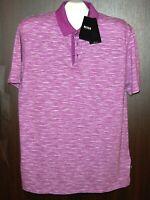 HUGO BOSS Lavender Stripes Cotton  Polo MEN'S Shirt Size XL NEW