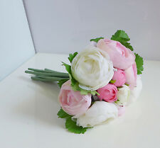 Bunche Camellia Rose Wedding Bouquet Bridal Posy Silk Flower Artificial