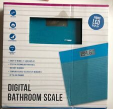 Digital Sparkle Scale in Sky Blue, Vivitar Bathroom Scale