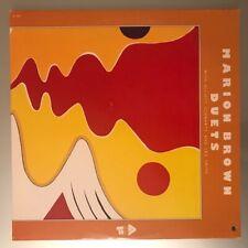 Marion Brown With Elliott Schwartz And Leo Smith– Duets Vinyl LP USA 1975 Great