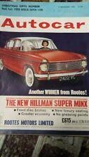 Autocar Magazine 7/12/1962 Road Test Ford Anglia Super, Motorized Caravan Test
