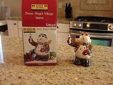 SAKURA Debbie Mumm Snow Angel Village Snowman Votive with Box