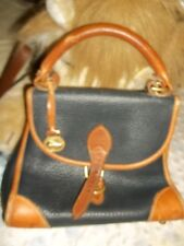 dooney bourke handbags vintage small navy tan pebbled leather arm purse