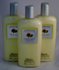 LOT OF 3 Back To Basics Sunflower Moisture Balancing Conditioner 12oz / 350ml