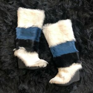 Anna Sui x Frye Collab Goat Fur Wedge Mukluk Boots