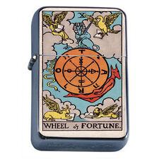 Tarot Card D11 Windproof Dual Flame Torch Lighter X Wheel of Fortune