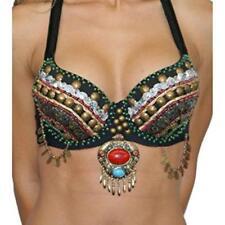 Western Fashion Women's Tribal Zari Bra Multicolor Size Med/Large 36-38 B/C Cup