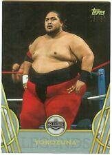 2018 TOPPS WWE LEGENDS YOKOZUNA SILVER PARALLEL #'d 15/50 Card #55