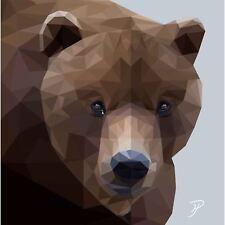 Birthday, Anniversary Greetings Card - Bear Animal Design - Blank