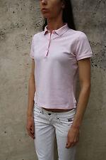 CONTE OF FLORENCE a maniche corte rosa POLO T-shirt Top Stretch Autentico S Piccolo