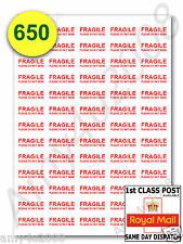 650 x FRAGILE STICKERS PLEASE DO NOT BEND SMALL Labels ✔FAST✔FREE DELIVERY