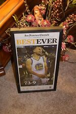 GOLDEN STATE WARRIORS COMPLETE NEWSPAPER FRAMED BEST EVER  MAN CAVE DISPLAY